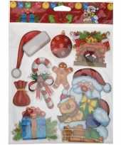 Kerst versiering 3d raamstickers type 4 29 x 36 cm