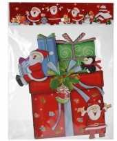 Kerst versiering raamstickers 3d cadeautje 25 x 34 cm