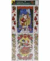 Kerst versiering raamstickers met glitters type 1