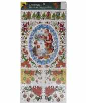 Kerst versiering raamstickers met glitters type 3