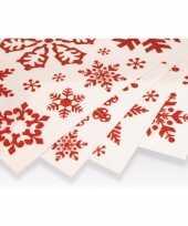 Kerst versiering raamstickers rode sneeuwvlokken