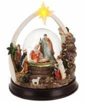 Kerst versiering sneeuwbol 23 cm type 2 met led verlichting