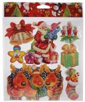 Kerst versiering stickers rood groen multi type 2