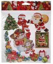 Kerst versiering stickers rood groen multi type 3
