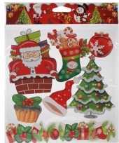 Kerst versiering stickers rood groen type 4