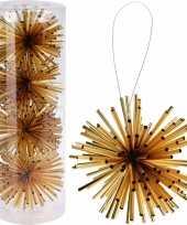 Kerstboom versiering kerstbol goud 8 cm