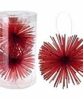 Kerstboom versiering kerstbol rood 11 cm