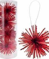 Kerstboom versiering kerstbol rood 8 cm
