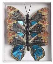 Kerstboom versiering vlinders blauw type 1