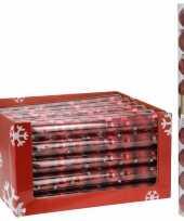 Kerstboomversiering rode ballen 9 stuks