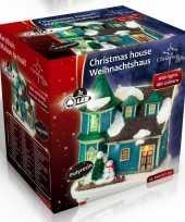 Kersthuisje villa led kerst versiering 9 x 6 x 9 cm