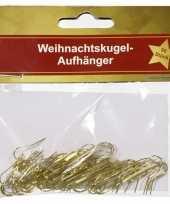 Kerstversiering haakjes voor kerstballen goud 50 x