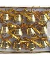 Kerstversiering kerstbelletjes goud 12 stuks