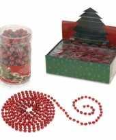 Kerstversiering kralenslinger rood 270 cm