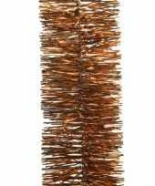 Koper bruine kerstversiering folie slinger 270 cm