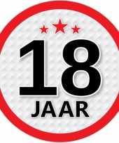 Leeftijd versiering sticker 18 jaar