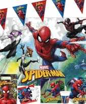 Marvel spiderman kinderfeest tafelversiering pakket 7 12 personen