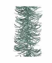 Mintgroene golf kerstslinger 10 cm breed x 270 cm versiering