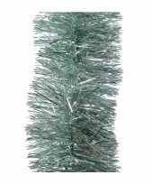 Mintgroene kerstslinger 10 x 270 cm kerstboom versieringen