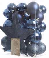 Mystic christmas kerstboom versiering set blauw 33 delig