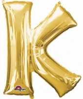 Naam versiering gouden letter ballon k