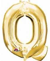 Naam versiering gouden letter ballon q