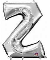 Naam versiering zilveren letter ballon z