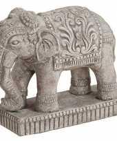 Olifant dieren beeldje grijs 27 cm woonversiering
