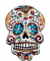 Opblaasbare day of the dead schedel 100 cm hangversiering