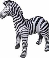 Opblaasbare zebra 140 cm versiering speelgoed