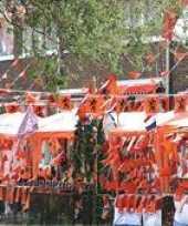 Oranje versierings pakketten groot