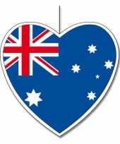 Papieren versiering hart australie 14 cm