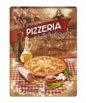 Pizza versiering metalen bord 30 x 40 cm