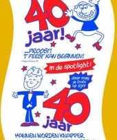 Rollen toiletpapier 40 jaar man verjaardagscadeau versiering versiering