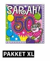 Sarah 50 jaar leeftijd themafeest pakket xl versiering versiering