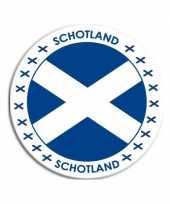 Schotland sticker rond 14 8 cm landen versiering