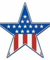 Stars and stripes versiering bord 38 cm