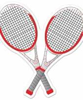 Tennisracket versiering 25 cm