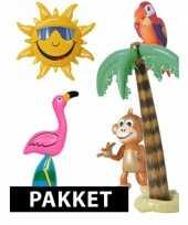 Tropische themafeest pakket met opblaasversiering