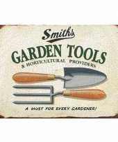 Tuinversiering metalen plaatje 30 x 40 cm garden tools