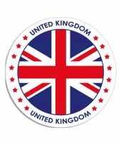 United kingdom sticker rond 14 8 cm landen versiering