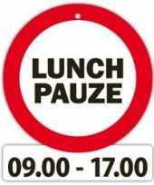 Versiering bord met zuignappen lunch pauze