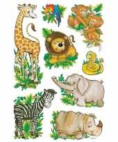 Versiering dierentuin dieren stickers