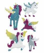 Versiering glitterende eenhoorn stickers