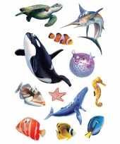 Versiering glitterende oceaan diertjes stickers