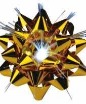 Versiering kadostrik goud met lichtje