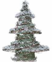 Versiering kerstboom met led licht op batterij 50 cm