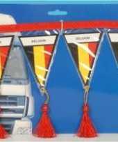 Versiering mini vlaggenlijn belgie 60 cm