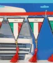 Versiering mini vlaggenlijn italie 60 cm