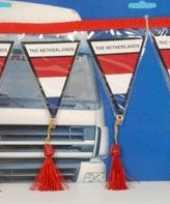 Versiering mini vlaggenlijn nederland 60 cm